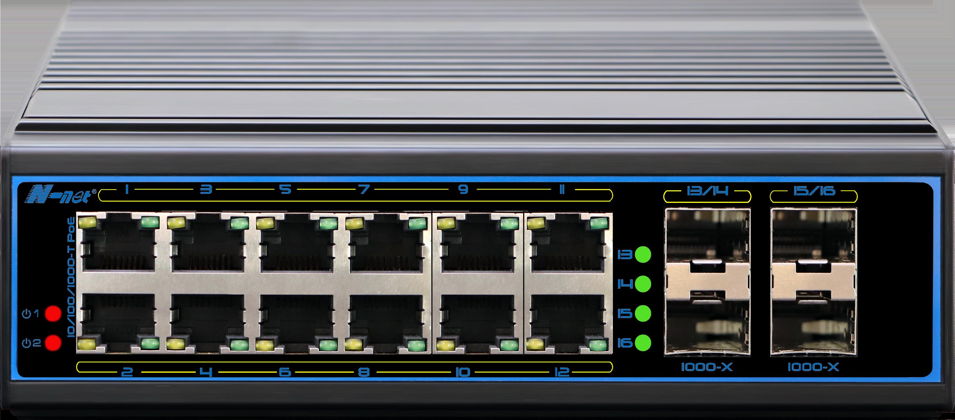 NIE8124PGM 16口全千兆网管型工业PoE交换机