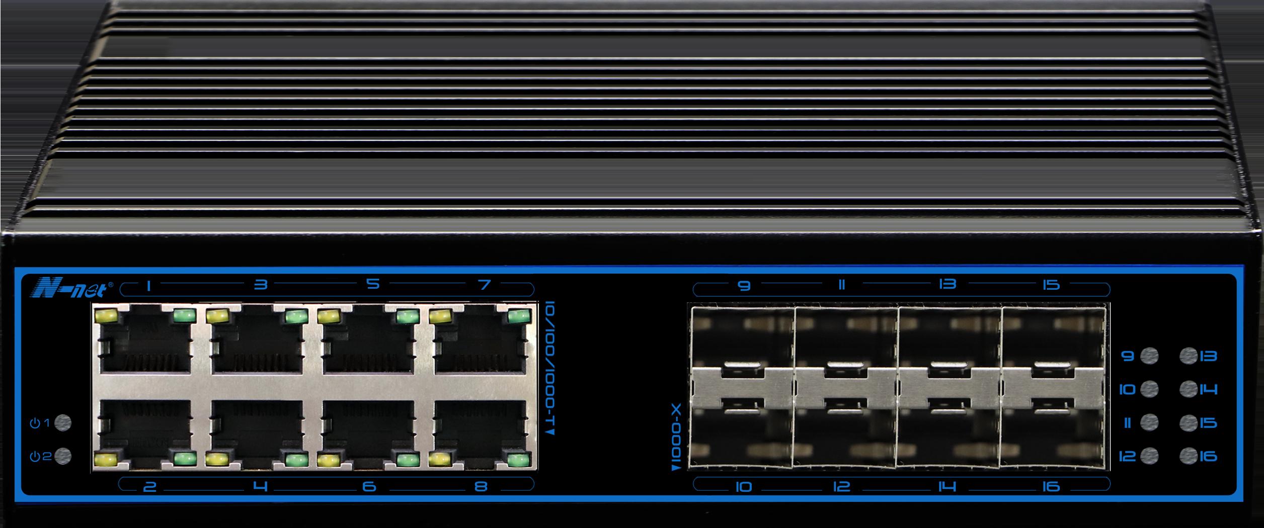 NIE8088GM 16口全千兆工业级网管型交换机