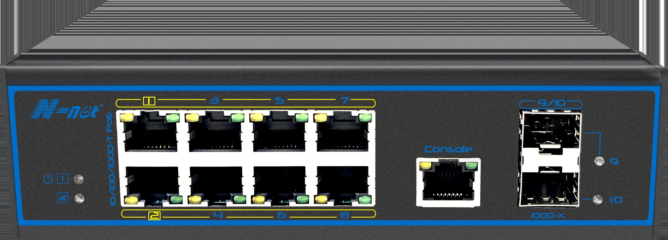 NIE8082PGM 10口全千兆网管型PoE交换机