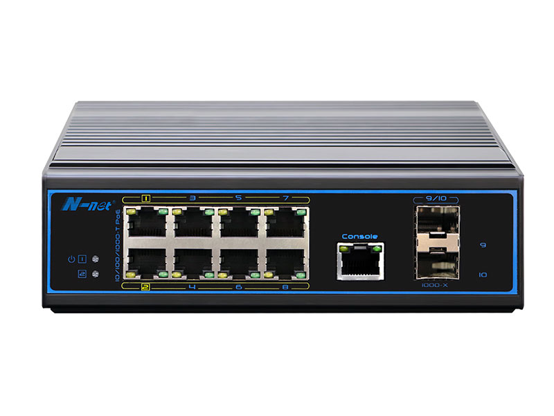 NIE8082PGM 10口全千兆網管型PoE交換機