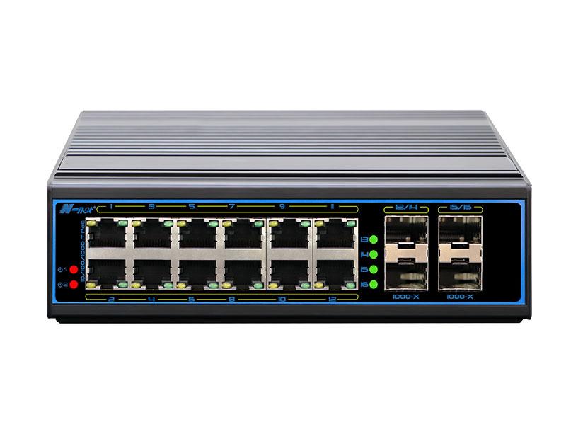 NIE8124PGM 16口全千兆網管型工業PoE交換機